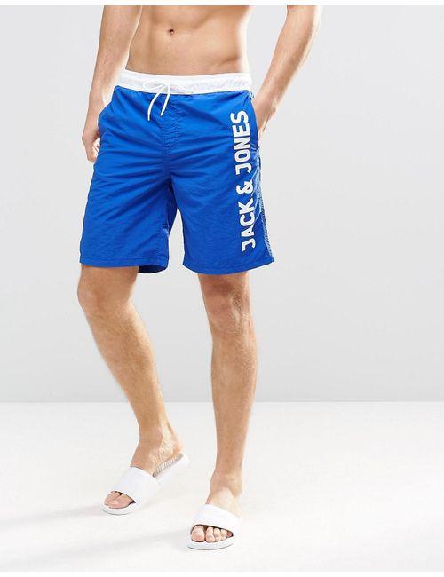 Jack & Jones | Мужские Синие Шорты Для Плавания С Логотипом Синий