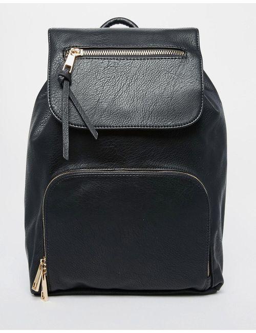 Aldo | Чёрный Структурированный Рюкзак Черный