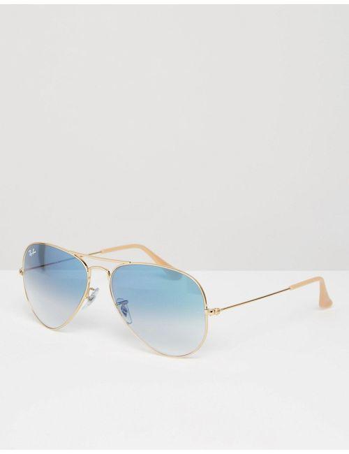 Ray-Ban | Золотые Солнцезащитные Очкиавиаторы С Зеркальными Стеклами 0rb3025 Золотой