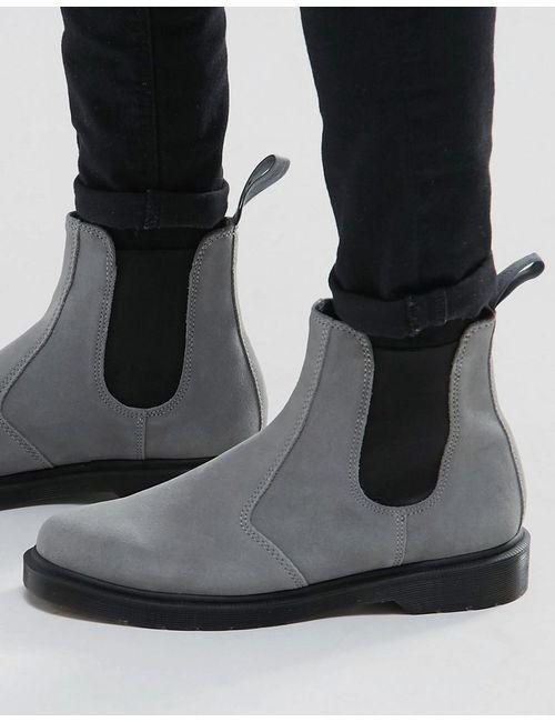 Dr. Martens | Мужские Серые Замшевые Ботинки Челси Dr Martens