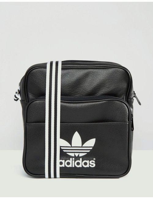Adidas | Чёрная Сумка На Плечо С 3 Полосками Adicolour