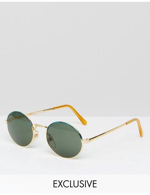 Reclaimed Vintage | Золотые Круглые Солнцезащитные Очки