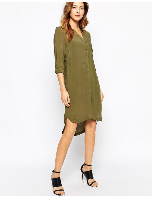 Vero Moda   Удлиненное Платье-Рубашка