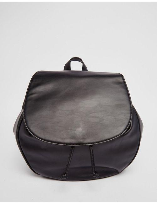 Monki | Женский Чёрный Рюкзак С Клапаном