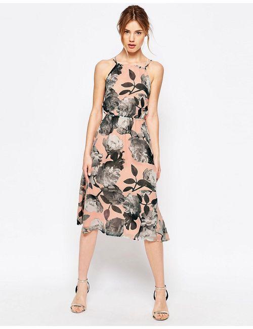 Uttam Boutique | Женское Платье С Завязкой На Шее И Принтом