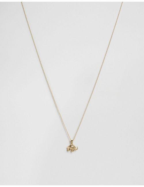 Orelia | Золотое Ожерелье С Цветком Lucky Elephant Золотой