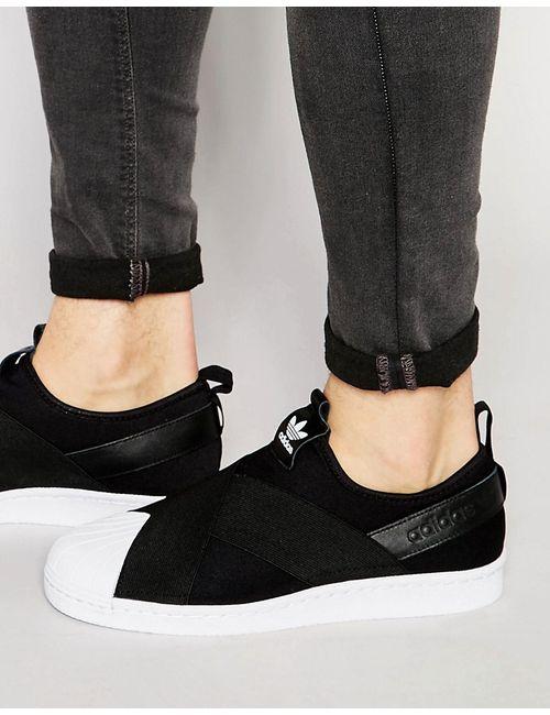 adidas Originals | Чёрные Кроссовки Слипоны Superstar S81337