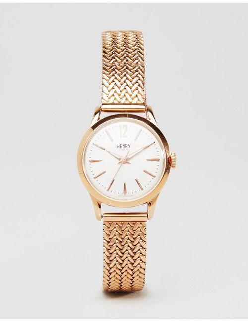Henry London | Женские Розовое Золотые Часы Цвета Розового Золота Hl25-M-0022 Richmond Розовое