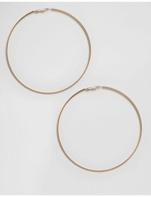 Asos | Золотые Большие Серьги-Кольца Ограниченной Серии 100 Мм
