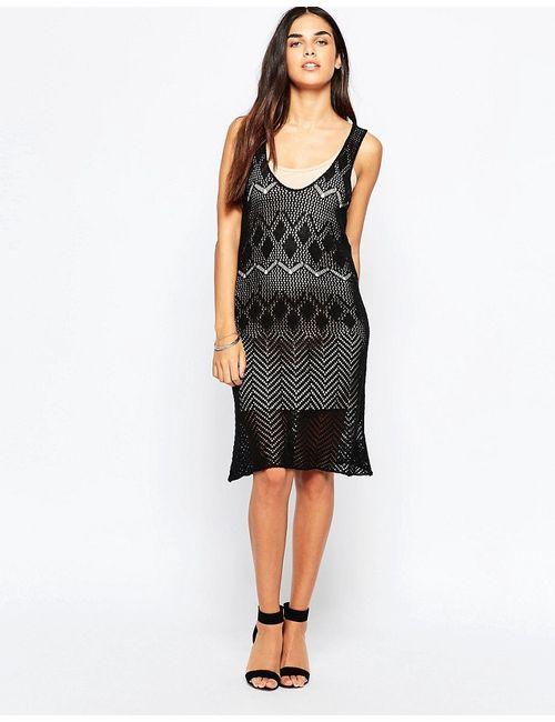 Goldie | Женское Чёрное Трикотажное Платье My Own Way Черный