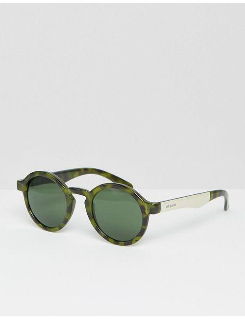 Mr Boho | Зелёные Зеленые Круглые Солнцезащитные Очки Mr. Boho Dalston