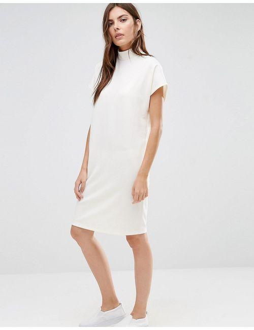 Vila | Чистое Oversize-Платье С Высоким Воротом Чистый