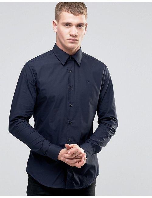 G-Star | Мужская Светлый Кобальтовая-С Рубашка Слим Светлый Кобальтово-Синий