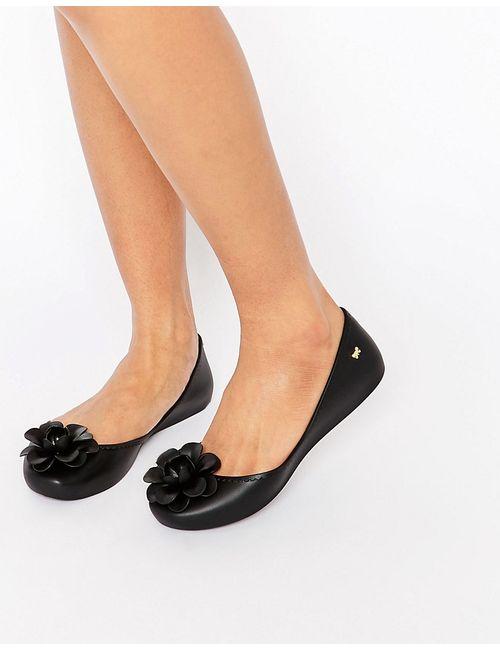 ZAXY | Женские Чёрные Туфли С Цветком Черный