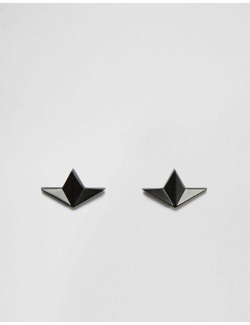 Asos | Чёрные Черные Матовые Уголки Для Воротника С Оригами