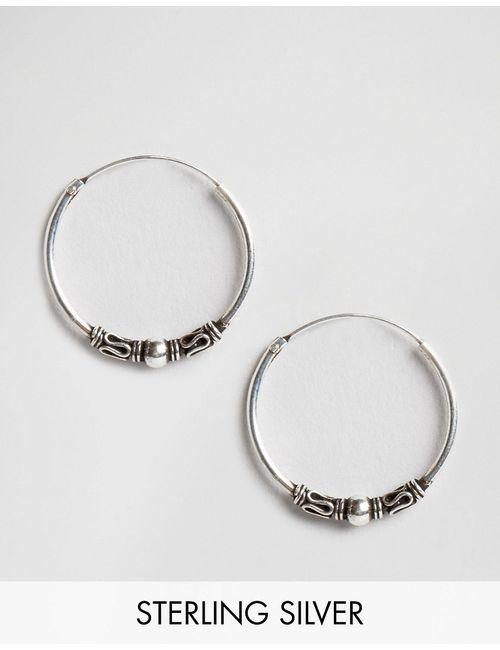 Kingsley Ryan | Серебряные Серебряные Серьги-Кольца 18 Мм Серебряный
