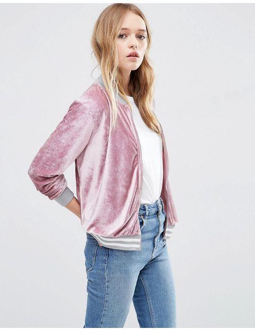 Asos | Розовая Вельветовая Куртка-Пилот Розовый