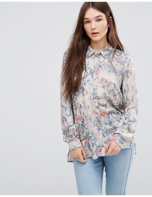 Only | Женская Многоцветная Рубашка С Цветочным Принтом Мульти