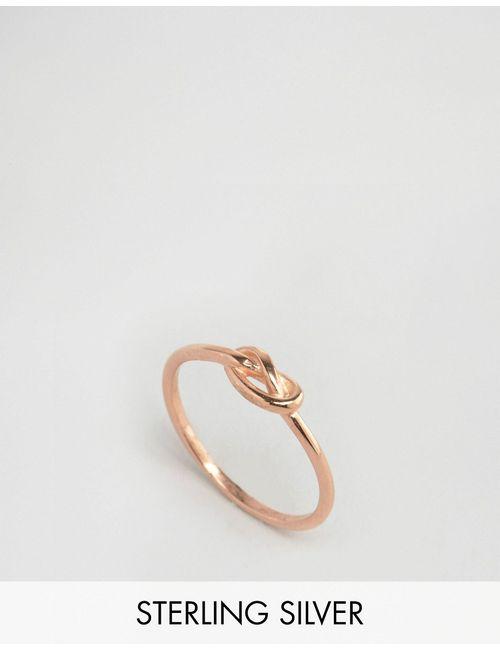 Asos | Женское Кольцо Из Позолоченного Серебра Покрытие Из Розового