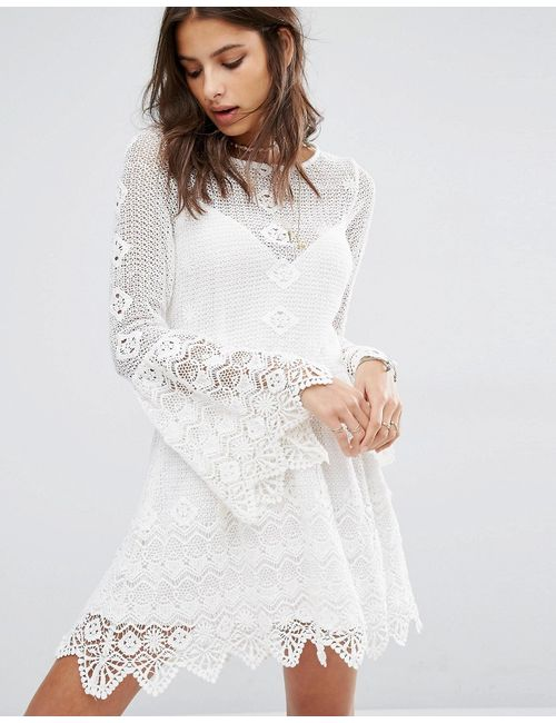 Jen's Pirate Booty | Женское Белое Платье Миди С Открытой Спинкой Everlasting Romantic