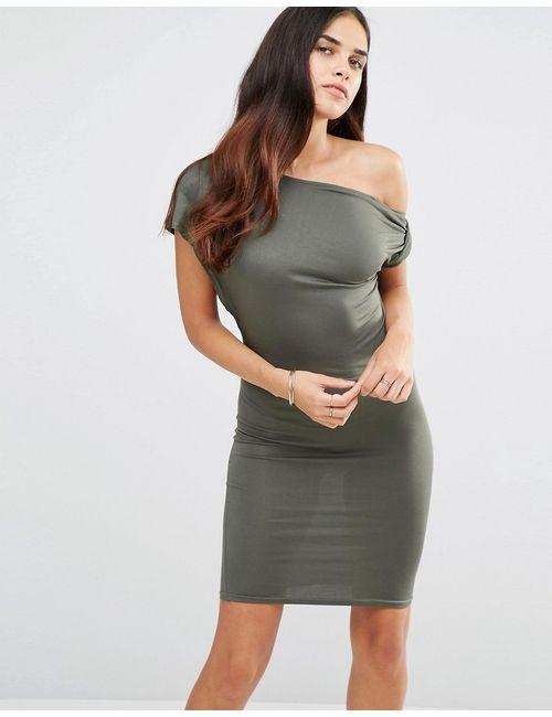 TFNC | Женское Хаки Платье С Открытыми Плечами Хаки