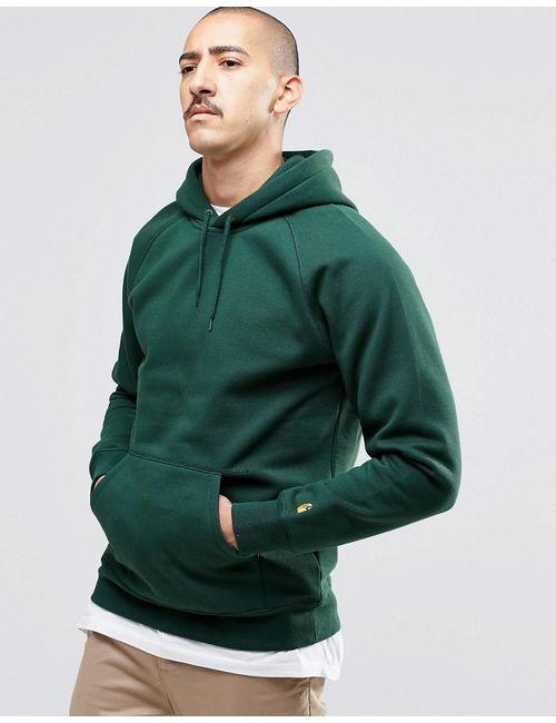 Carhartt WIP | Мужские Зелёные Худи Chase Зеленый