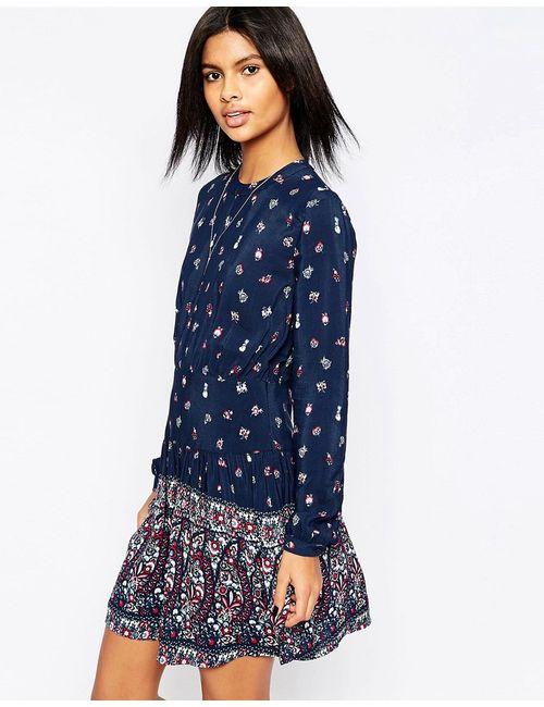 Pepe Jeans | Женское Многоцветное Платье С Цветочным Принтом Peggie 0 Разноцветный