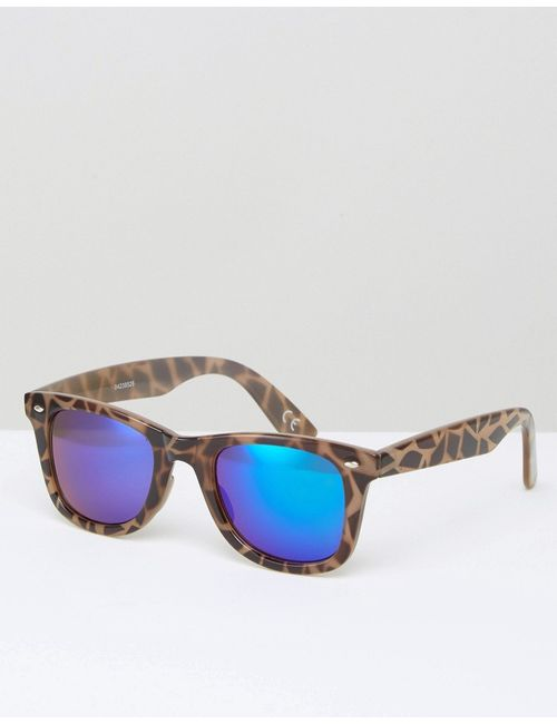 Asos | Серые Квадратные Солнцезащитные Очки В Черепаховой Оправе Серый