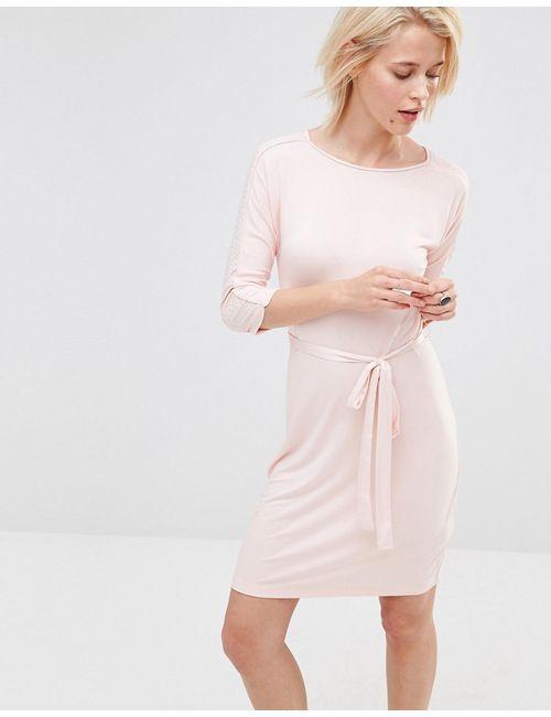 Lavand. | Женское Розовое Розовое Платье С Поясом На Талии Lavand