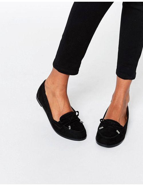 Asos | Женские Чёрные Туфли На Плоской Подошве Monthly Черный