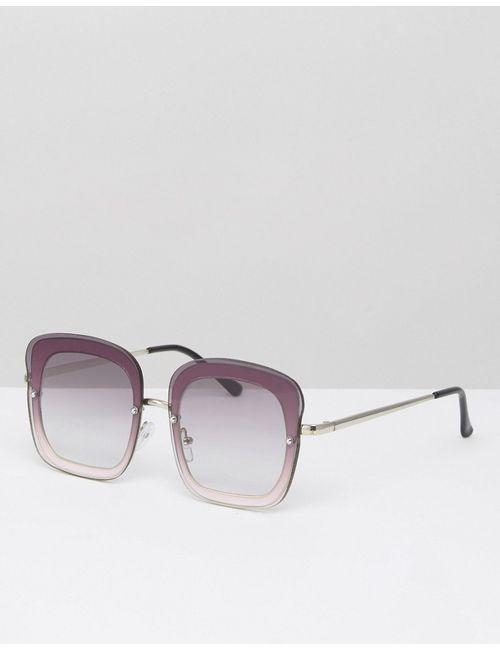 Asos | Розовые Солнцезащитные Очки Без Оправы В Стиле 70Х