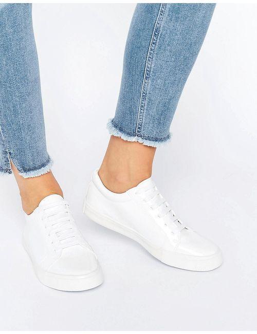 Glamorous | Женские Белые Белые Лакированные Кроссовки Белый Лакированный