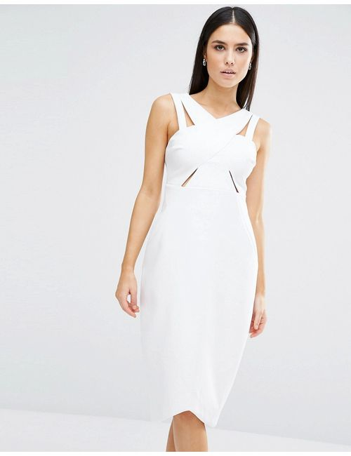 Style Stalker | Женское Белое Платье Stylestalker Parallel Белый