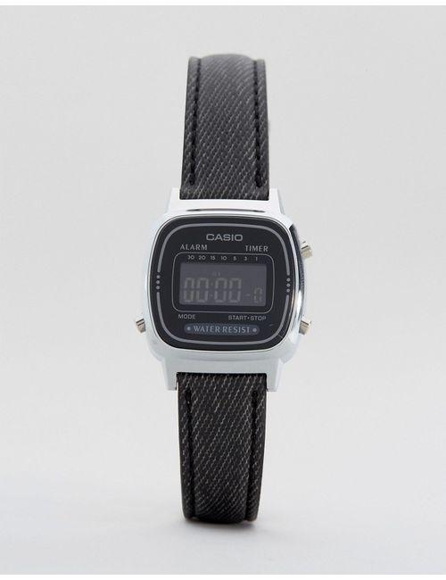 Casio | Женские Чёрные Часы С Черным Кожаным Ремешком La670wel-1bef Черный