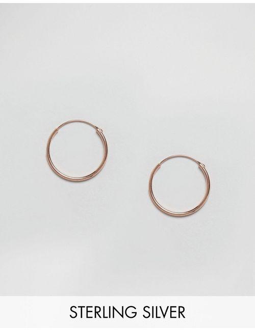 Kingsley Ryan | Покрытые Розовым Золотом Серьгикольца 20 Мм Розовое