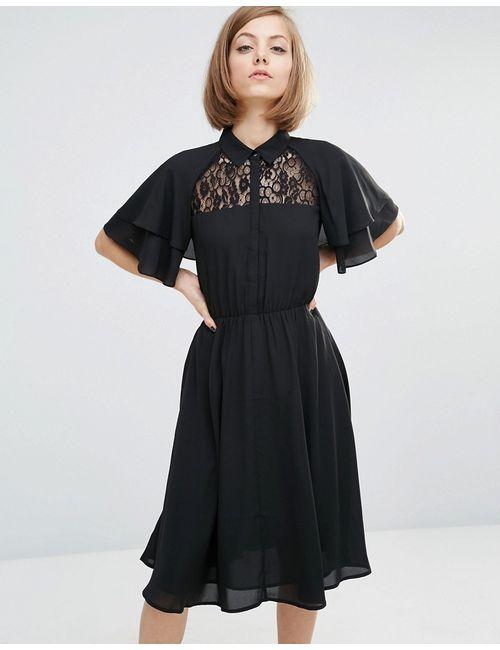 LOST INK | Чёрное Платье-Рубашка Черный