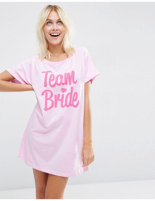 Asos | Многоцветная Oversize-Футболка С Принтом Team Bride Bridal Мульти