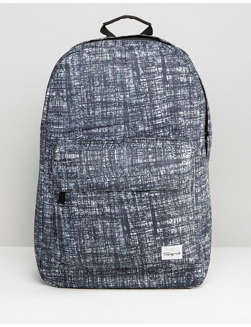 Spiral | Серый Черный Рюкзак С Принтом Серый