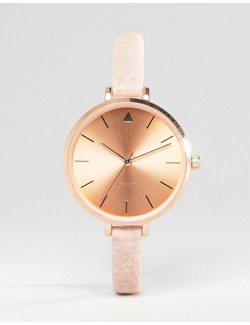Asos | Женские Телесные Часы На Тонком Ремешке С Большим Циферблатом