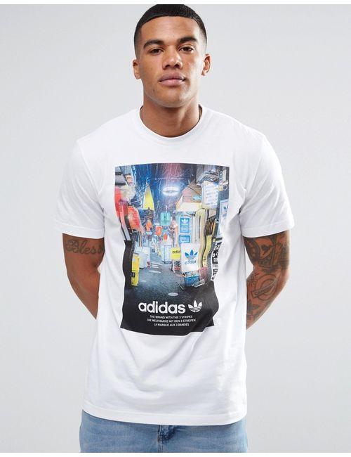adidas Originals | Мужская Белая Футболка С Принтом Az1481