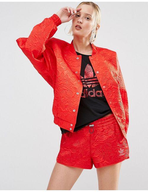 Adidas | Красная Кружевная Курткапилот Свободного Кроя Originals Ярко-Красный