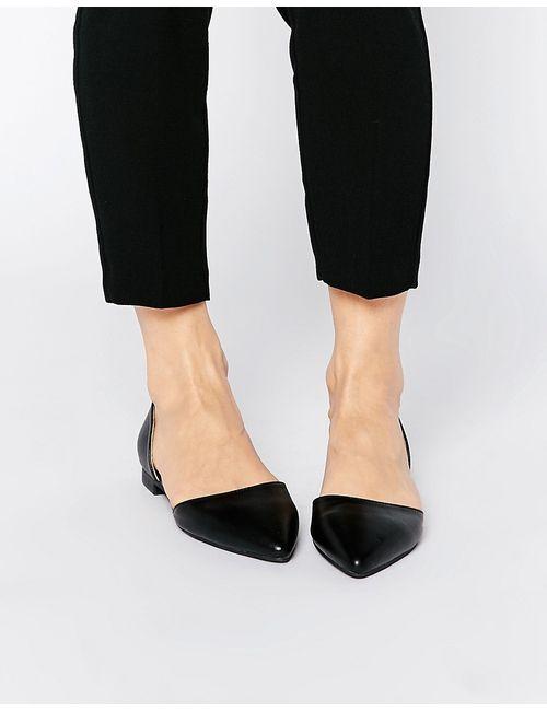 London Rebel | Женские Чёрные Туфли Из Двух Частей На Плоской Подошве