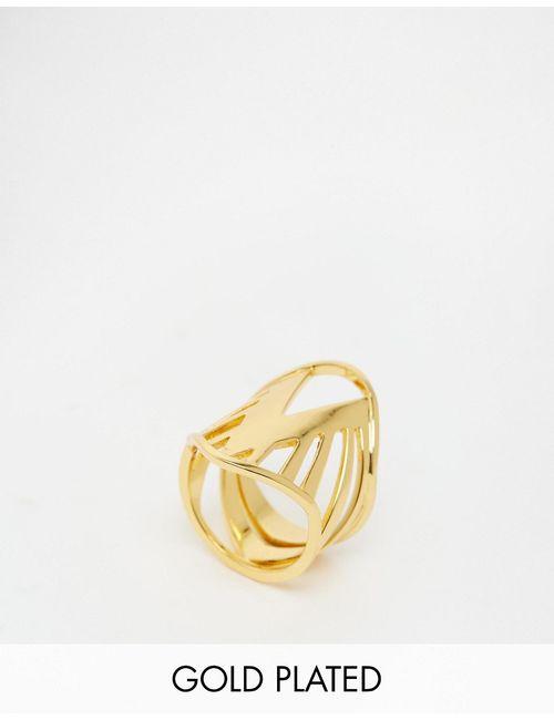gorjana | Женское Золотое Броское Кольцо Shera Золотой