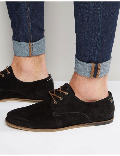 Jack & Jones | Мужские Чёрные Замшевые Туфли На Шнуровке Черный