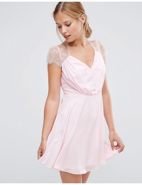 Asos   Женское Телесное Кружевное Платье Мини Kate Телесный
