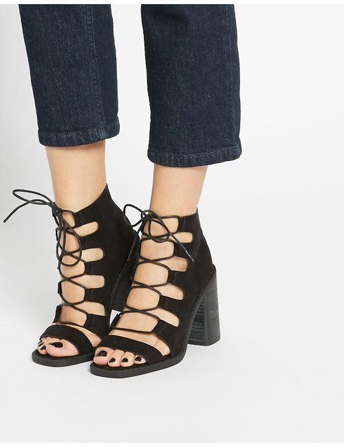 Asos | Чёрные Ботинки На Шнурках Eden