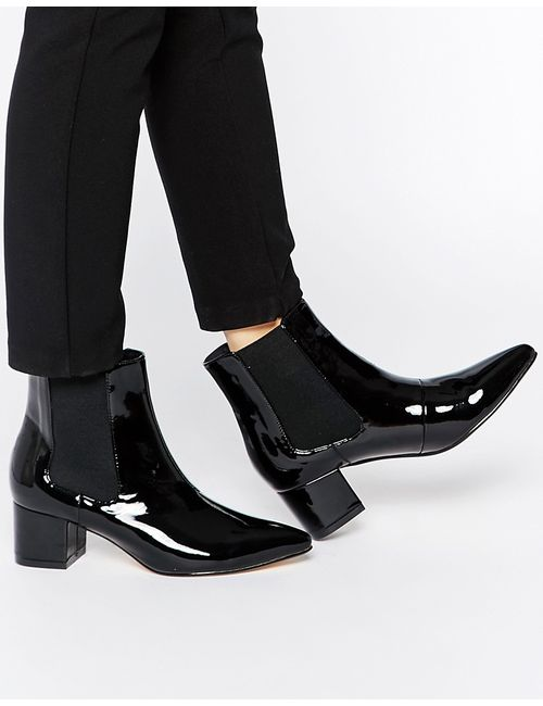 Truffle Collection | Чёрные Ботинки Челси С Острым Носом Molly