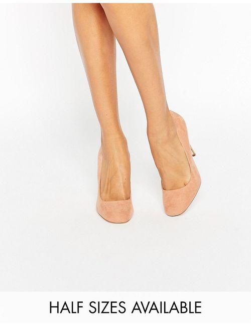 Asos | Playtime Square Toe High Heels Телесный