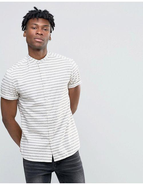 Asos | Мужская Рубашка В Полоску С Воротом На Пуговице