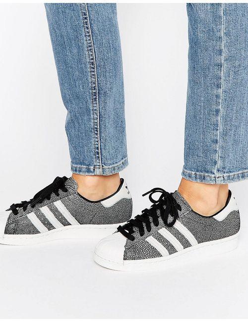 Adidas | Originals Metallic Print Superstar Trainers Черная Основа